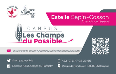 Campus Les Champs du Possible – Cartes de visite
