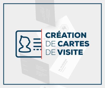 Création de cartes de visite