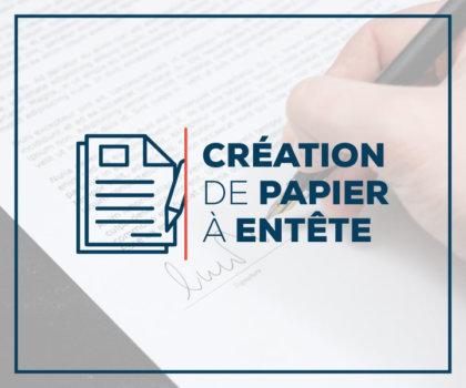 Création de papier à entête et enveloppe
