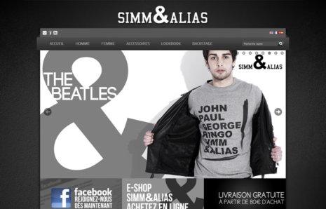 simm&alias – Site Internet