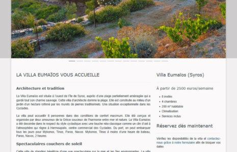 Villa Eumaïos – Site Internet
