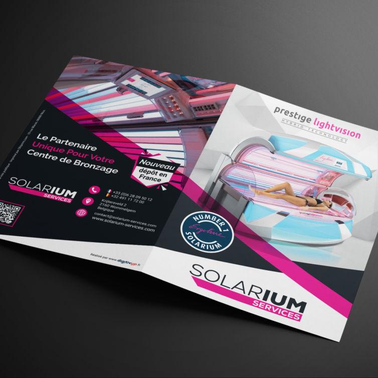 Solarium Services – Dépliant A5